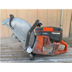 Husqvarna K760 Concrete Cutoff Saw (Needs Repair-Frame Damaged)