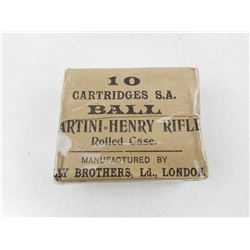 MARTINI-HENRY RIFLE ROLLED CASE AMMO
