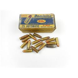 25 AUTOMATIC AMMO ASSORTED