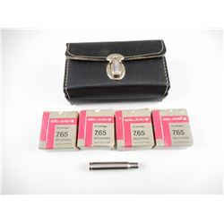 SELLIER & BELLOT 7.65 BROWNING AMMO, WITH 30-06 ADAPTER IN BLACK CASE