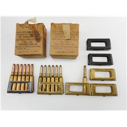 7.35 CAL. AMMO IN STRIPPER CLIPS, EXTRA STRIPPER CLIPS