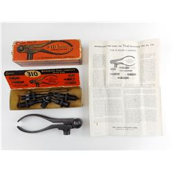 LYMAN NO. 310 RELOADING TOOL, 45 AUTO,  COMPLETE WITH DIES