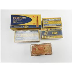 DOMINION AND REMINGTON COLLECTOR BOXES
