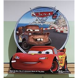 DISNEY PIXAR'S CARS 2 THEATRE CARDBOARD STAND-UP SIGN