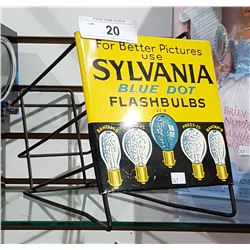 VINTAGE SILVANIA FLASHBULB COUNTER DISPLAY