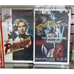 PICKUP AND THE ASTOUNDING SHE-MONSTER MOVIE POSTERS