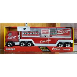 VINTAGE BUDDY L COCA-COLA SEMI TRUCK AND VENDING MACHINE IN UNOPENED PACKAGE