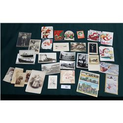 COLLECTION OF VINTAGE CARDS, POSTCARDS, AND PHOTOS
