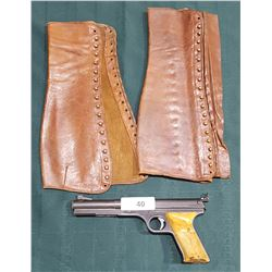 DAISY BB GUN & VINTAGE LEATHER SPATS
