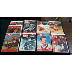 COLLECTION OF 11 1950/60'S LIFE MAGAZINES