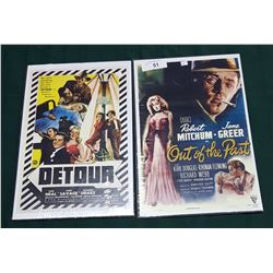 DETOUR & OUT OF THE PAST MOVIE POSTERS