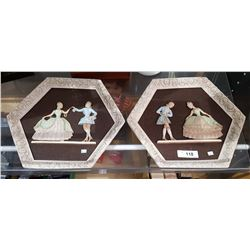 PAIR OF VINTAGE GIROTTI CHALKWARE PICTURES