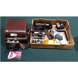 COLLECTION OF VINTAGE CAMERAS AND ACCESSORIES