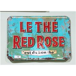 VINTAGE RED ROSE TEA METAL SIGN