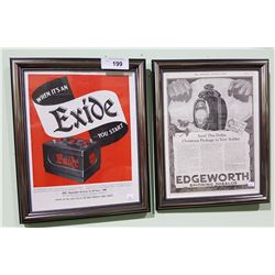 PAIR OF FRAMED SATURDAY EVENING POST ADVERTS