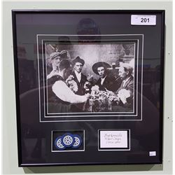 FRAMED PRINT OF BARKERVILLE POKER GAME INCLUDING POKERCHIPS C1890