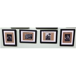 4 AUTHENTIC NAZI PROPAGANDA PHOTOS, FRAMED