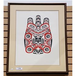 LARGE FRAMED NATIVE ART PRINT