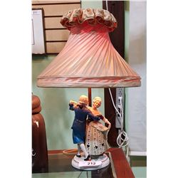 AUSTRIAN FIGURAL PORCELAIN TABLE LAMP