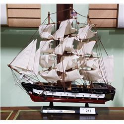 "WOOD MODEL SHIP ""USS CONSTITUTION"""