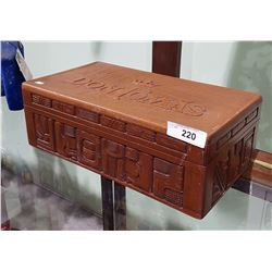 DAWN TOMAS CARVED WOOD HUMIDOR