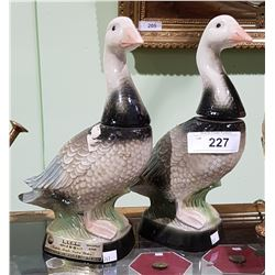 PAIR OF JIM BEAM GOOSE DECANTERS