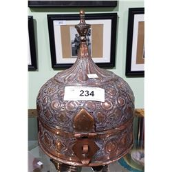 VINTAGE TURKISH COPPER LIDDED DISH