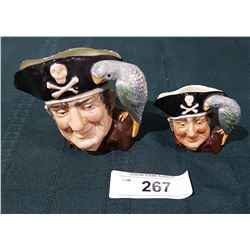 2 ROYAL DOULTON LONG JOHN SILVER CHARACTER MUGS