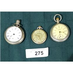 3 VINTAGE POCKET WATCHES