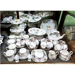 APPROX 62 PC ROYAL ALBERT PETTIPOINT CHINA SET