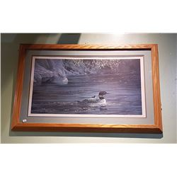 FRAMED LIMITED EDITION LOON PRINT