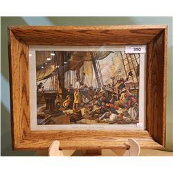 OAK FRAMED VINTAGE PIRATES PRINT