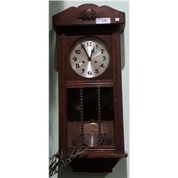 ANTIQUE OAK WALL CLOCK