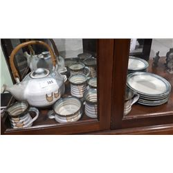 APPROX 14 PC MAXWELL MUIR POTTERY TEA SET