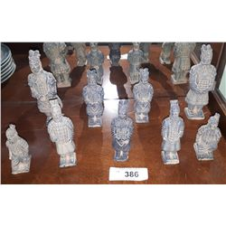 9 PC SET OF TERRACOTTA WARRIORS