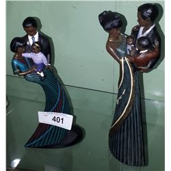 "2 PARASTONE ""MAHOGANY PRINCESS"" FIGURINES SIGNED ROS"