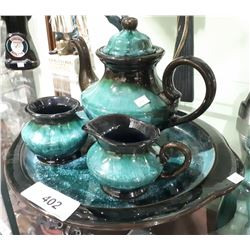 4 PC BLUE MOUNTAIN POTTERY TEA SET