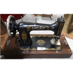VINTAGE FLORENCE ROTARY SEWING MACHINE IN CASE