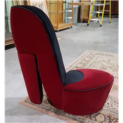 RED HIGH HEEL SHOE CHAIR