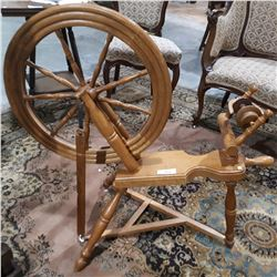 VINTAGE MAPLE SPINNING WHEEL