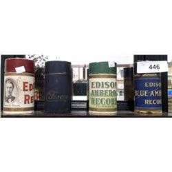 4 ANTIQUE EDISON PHONOGRAPH CYLINDERS
