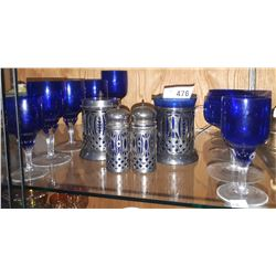 COLLECTION OF COBALT BLUE GLASS WARE