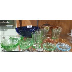 APPROX 21 PCS OF COLLECTIBLE GLASS
