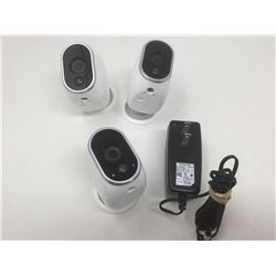 Net Gear Cameras and Charging cable
