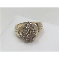 Natural Diamond Detail 10ktGold Ring (Suggested Retail $5,900) Val:# 18-ES1548