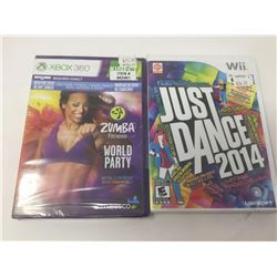 XBox 360 Zumba fitness and Wii's Just Dance 2014