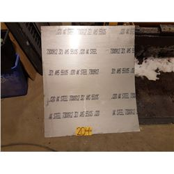 "Stainless Sheet 31""7/16 x 36"" x 0.020"
