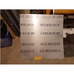 "Stainless Sheet 35""1/2 x 36""1/8 x 0.020"
