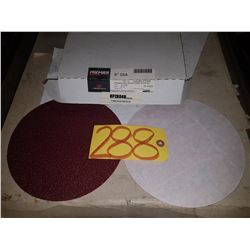 """Box of Carbo PREMIER Red Resin Paper stick-on Disc 8"""" Gr.40"""