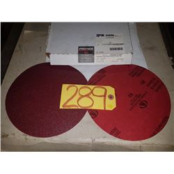 """Box of Carbo PREMIER Red Resin Paper stick-on Disc 8"""" Gr.80"""